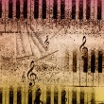Music notes background — Stock Photo