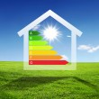 Colourful house against nature background — Stock Photo