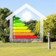 Colourful house against nature background — Stock Photo #11806274