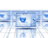 Computer screens — Stock Photo