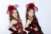 Little girls in beautiful dress — Stock Photo