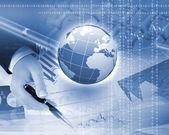Küresel teknoloji yansıma — Stok fotoğraf