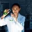 Stock Photo: Young scientist in laboratory