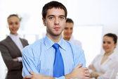 молодой предприниматель в офисе — Стоковое фото