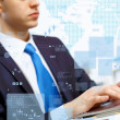 Business person working on computer — Stock Photo #12030392