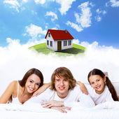 Träume der jungen familie — Stockfoto