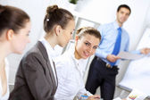 Young businesswoman in the office — Stock Photo