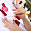 Stock Photo: Female hands and manicure related objects