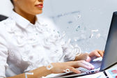 Business person working on computer — Stock Photo