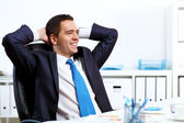 Young businessman in the office — Stock Photo