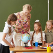 Teacher at school - Stock Photo