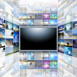 een flat screen-televisie — Stockfoto