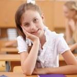 Little girl at school class — Stock Photo #12291290