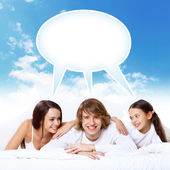 Dreams of young family — Stock Photo