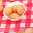 Brown chicken eggs - Stok fotoraf