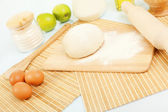 Different products to make bread — Stock Photo