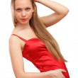 Woman in red dress — Stock Photo #12376539
