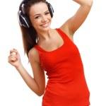 Happy smiling girl dancing — Stock Photo