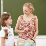 Little girl at school class — Stock Photo #12376586