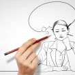 Questions and challenges in business drawing — Stock Photo