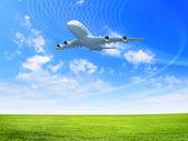 Large passenger airplane — Stock Photo