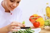 Fresh cut vegetables — Stock Photo