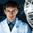 Stock Photo: DNA strand illustration