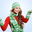 Young woman wearing warm sweater — Stock Photo #12412414