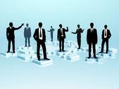 Sieci społecznych i postacie ludzkie — Zdjęcie stockowe