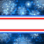 White blank background and fireworks — Stock Photo