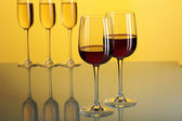 Glasses with wine — Stock Photo