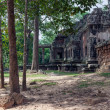 Summer landscape with an ancient building in the Angkor Wat — Stock Photo