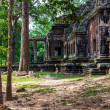 Prasat Bayon. The ruins of Angkor Thom Temple in Cambodia - Stock Photo