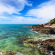 The rocky shore the Andaman Sea — Stock Photo