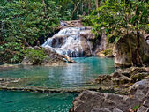 Tropical landscape. Erawan Reserve in northern Thailand. — Stock Photo
