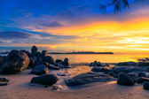 Zachód słońca nad morzem — Zdjęcie stockowe