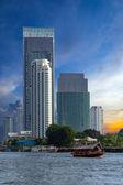 Bangkok city. View from the Chao Phraya River. — Stock Photo