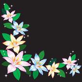 Abstrakt bakgrund med liljor. — Stockvektor