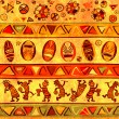 Seamless background with african traditional patterns - Stock Photo