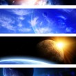 Collection of space banners — Stock Photo