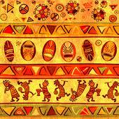 Plano de fundo sem emenda com padrões tradicionais africanos — Foto Stock