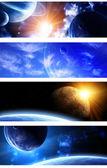 Collection de bannières de l'espace — Photo