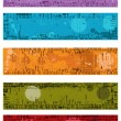 Collection of vector grunge banners — Stock Vector #11015346