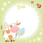 Vektor Hintergrund mit hübsch Kuh — Stockvektor