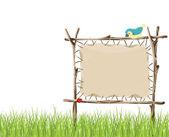 Tabuleta de madeira — Vetorial Stock
