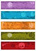 Collection of vector grunge banners — Stock Vector