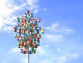 Caixas de assentamento coloridas — Foto Stock