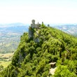 Cesta tower on Monte Titano, San Marino - Stock Photo