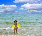 Woman on the Beach — ストック写真
