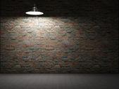 Dirty brick wall illuminated — Stockfoto